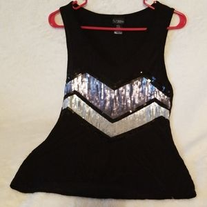 Day trip top small Sequence Black silver sleeveles